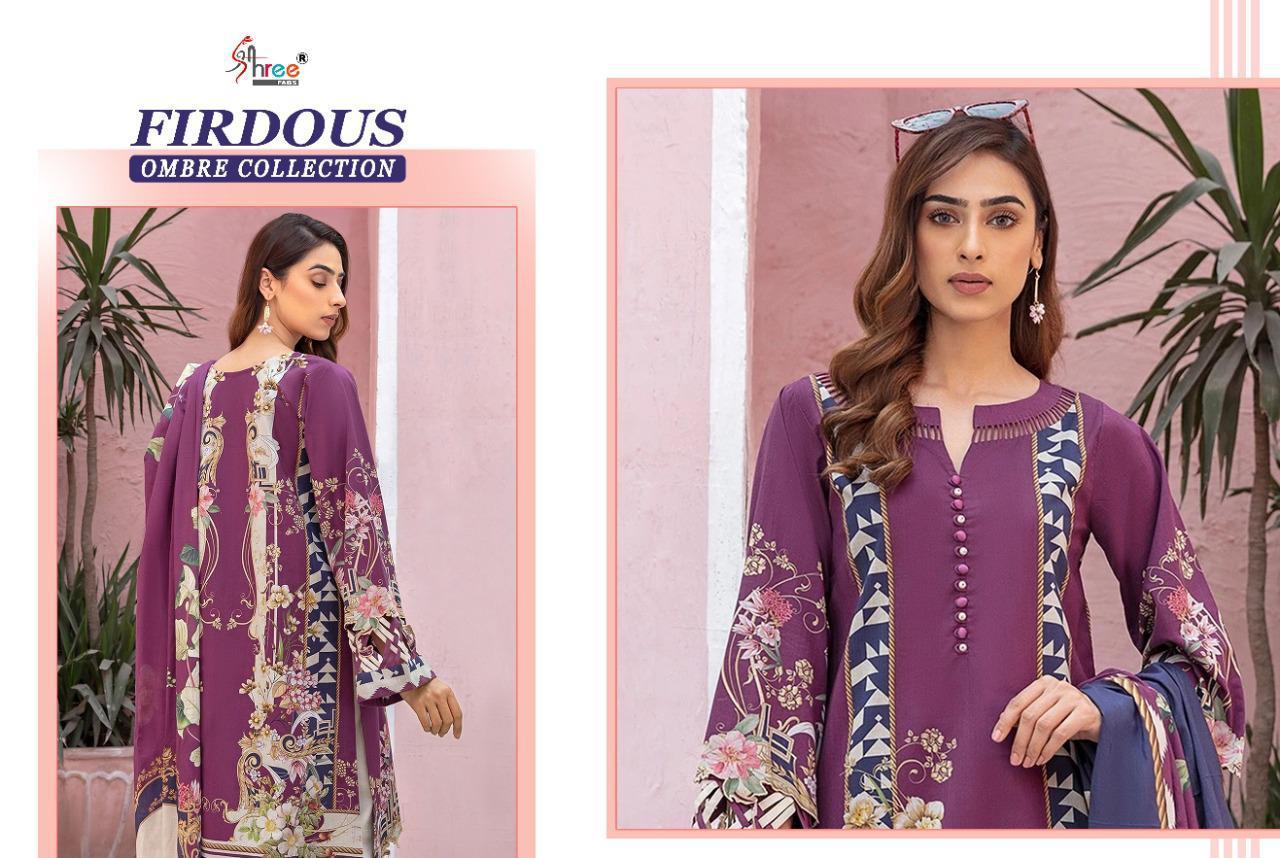 Shree Fabs Firdous Ombre Collection Salwar Suit Wholesale Catalog 10 Pcs 14 - Shree Fabs Firdous Ombre Collection Salwar Suit Wholesale Catalog 10 Pcs