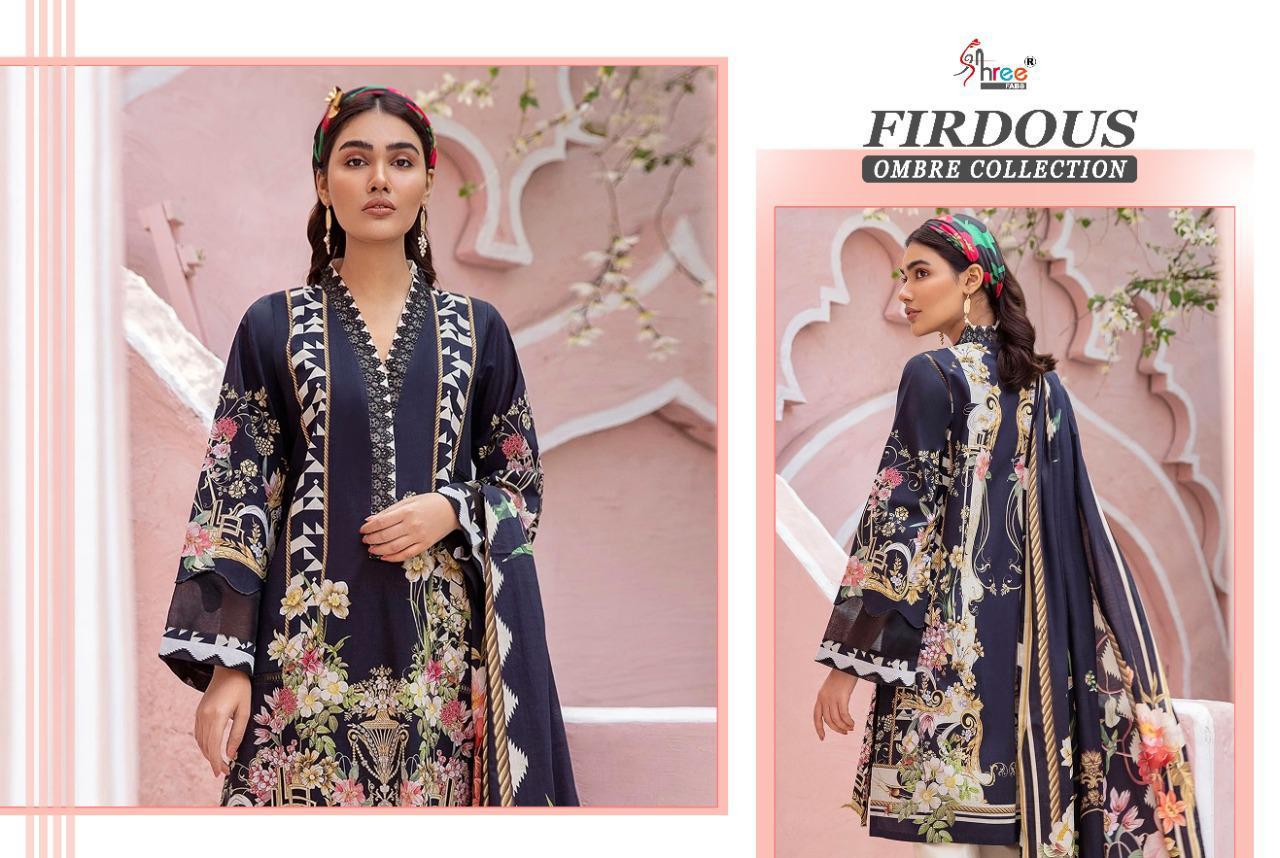 Shree Fabs Firdous Ombre Collection Salwar Suit Wholesale Catalog 10 Pcs 17 - Shree Fabs Firdous Ombre Collection Salwar Suit Wholesale Catalog 10 Pcs