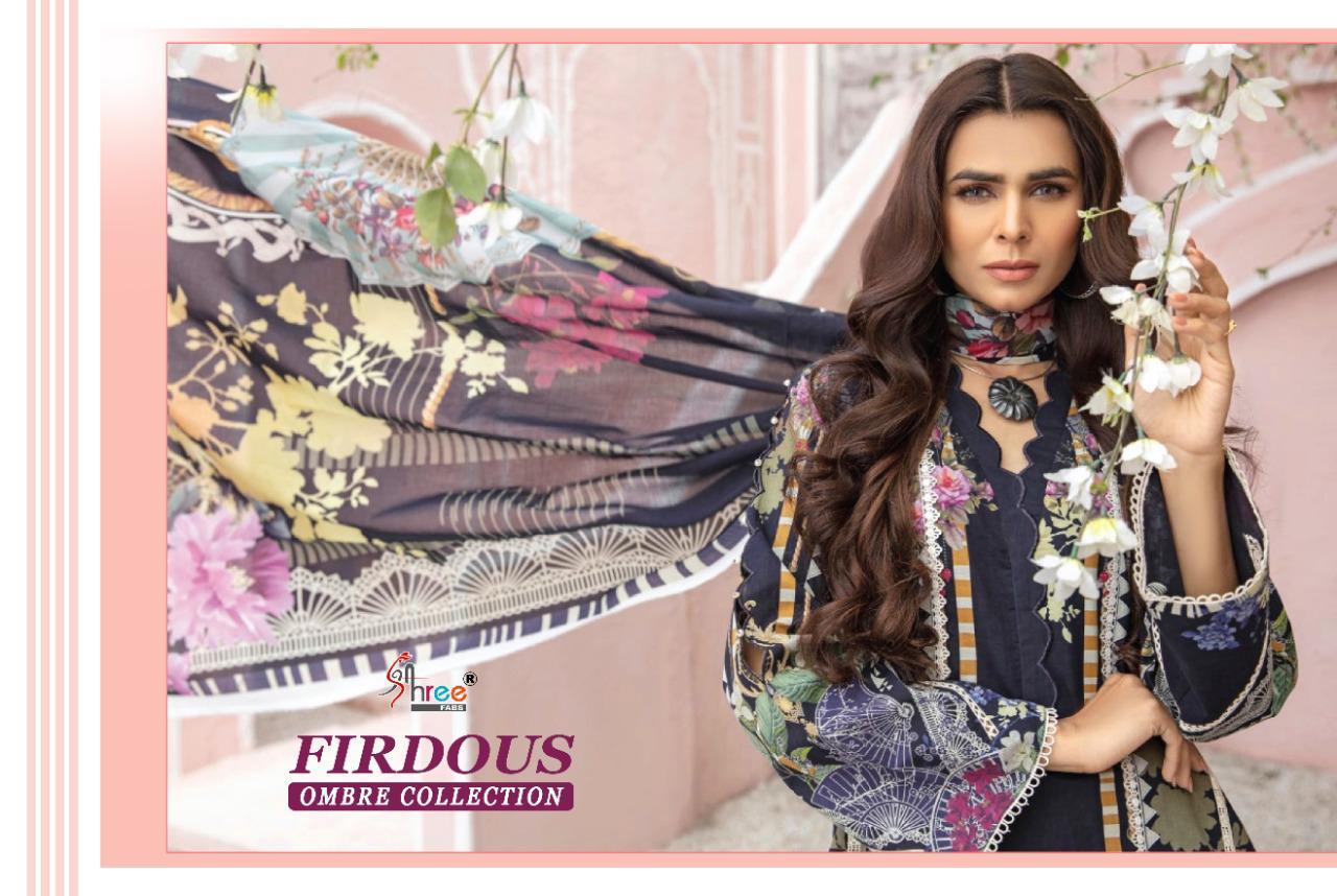Shree Fabs Firdous Ombre Collection Salwar Suit Wholesale Catalog 10 Pcs 9 - Shree Fabs Firdous Ombre Collection Salwar Suit Wholesale Catalog 10 Pcs