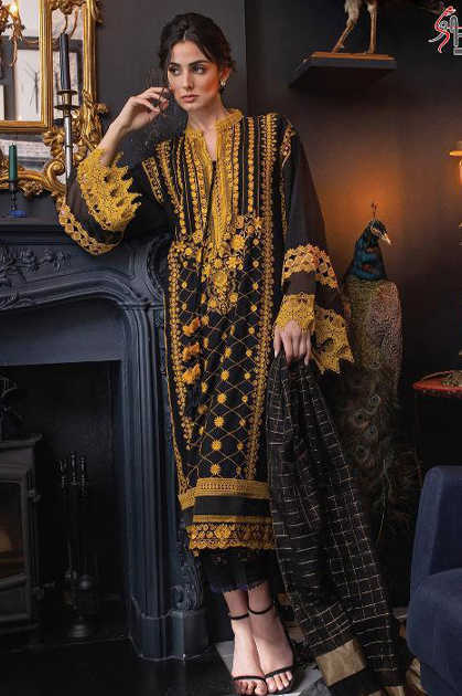 Shree Fabs Sobia Nazir Lawn Collection Salwar Suit Wholesale Catalog 5 Pcs