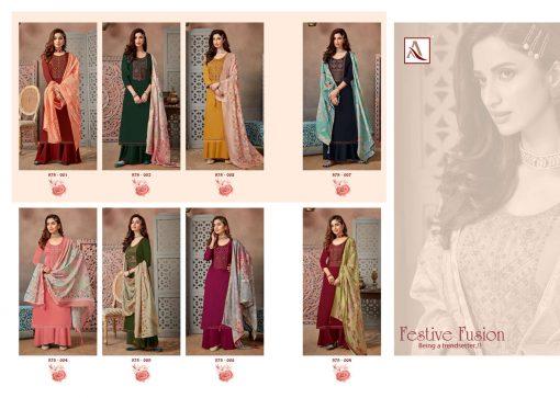 Alok Festive Fusion Salwar Suit Wholesale Catalog 8 Pcs 12 510x363 - Alok Festive Fusion Salwar Suit Wholesale Catalog 8 Pcs