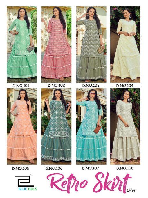 Blue Hills Retro Skirt Vol 1 Kurti with Skirt Wholesale Catalog 8 Pcs 11 510x680 - Blue Hills Retro Skirt Vol 1 Kurti with Skirt Wholesale Catalog 8 Pcs