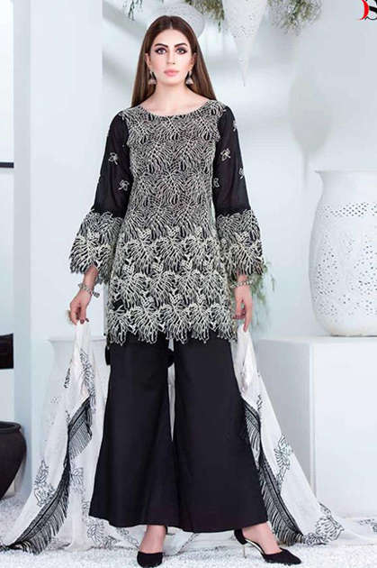 Deepsy Maria B Black Beauty Salwar Suit Wholesale Catalog 5 Pcs