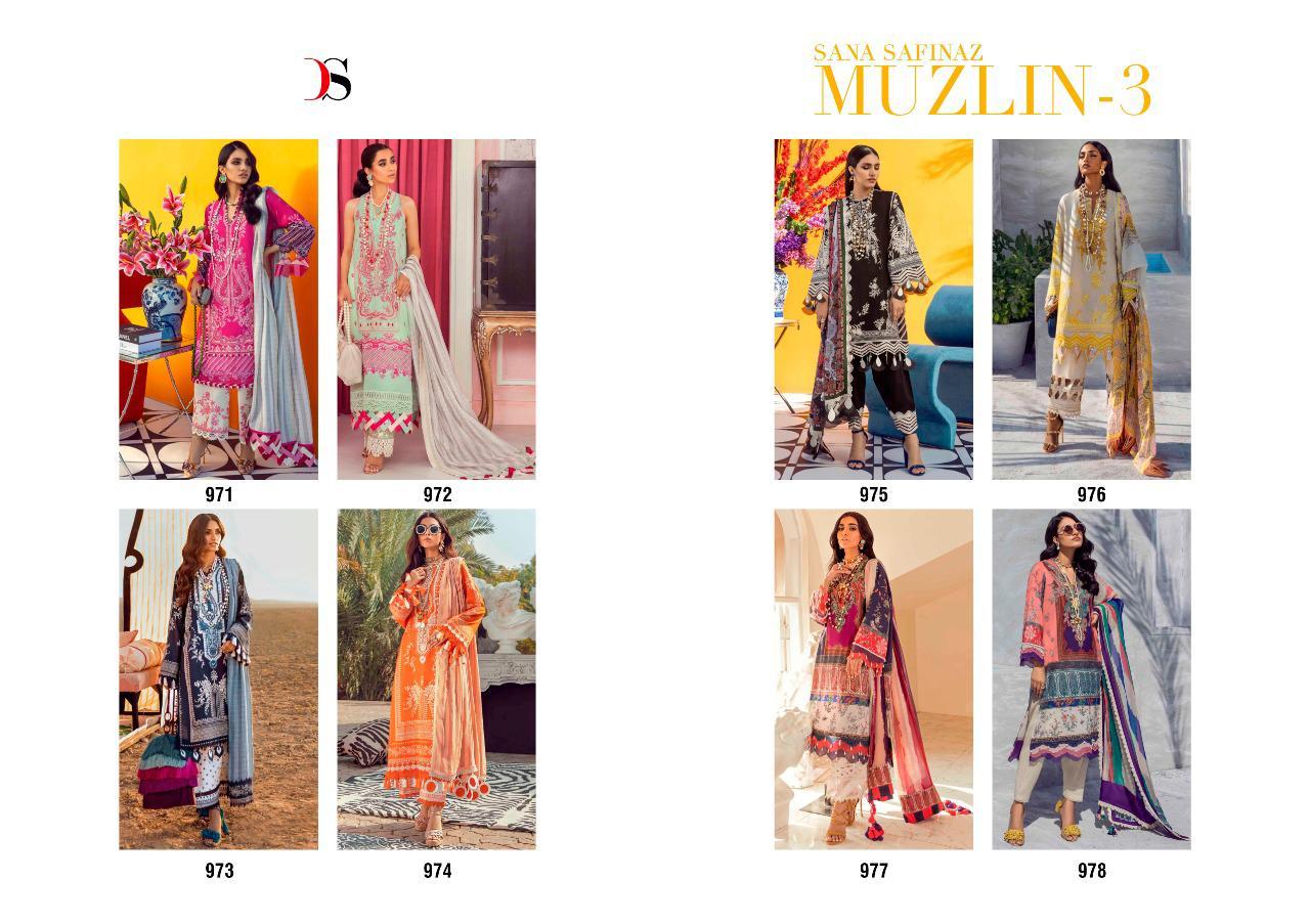 Deepsy Sana Safinaz Muzlin Vol 3 Salwar Suit Wholesale Catalog 8 Pcs 10 - Deepsy Sana Safinaz Muzlin Vol 3 Salwar Suit Wholesale Catalog 8 Pcs