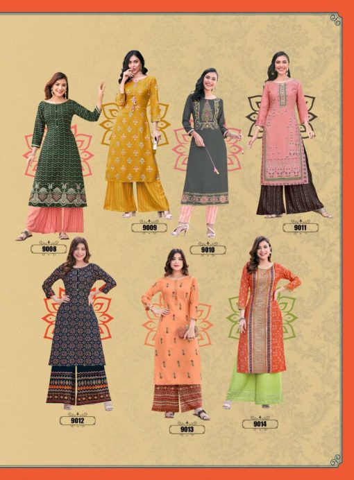 Diya Trends Bibas Vol 9 by Kajal Style Kurti with Palazzo Pant Wholesale Catalog 14 Pcs 17 510x692 - Diya Trends Biba's Vol 9 by Kajal Style Kurti with Palazzo Pant Wholesale Catalog 14 Pcs