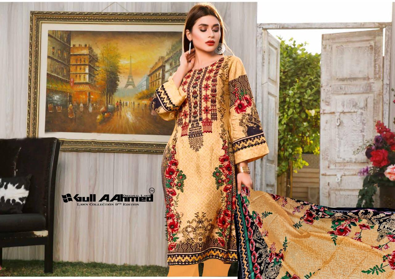 Gull AAhmed Vol 9 Lawn Colletion Salwar Suit Wholesale Catalog 10 Pcs 1 - Gull AAhmed Vol 9 Lawn Colletion Salwar Suit Wholesale Catalog 10 Pcs