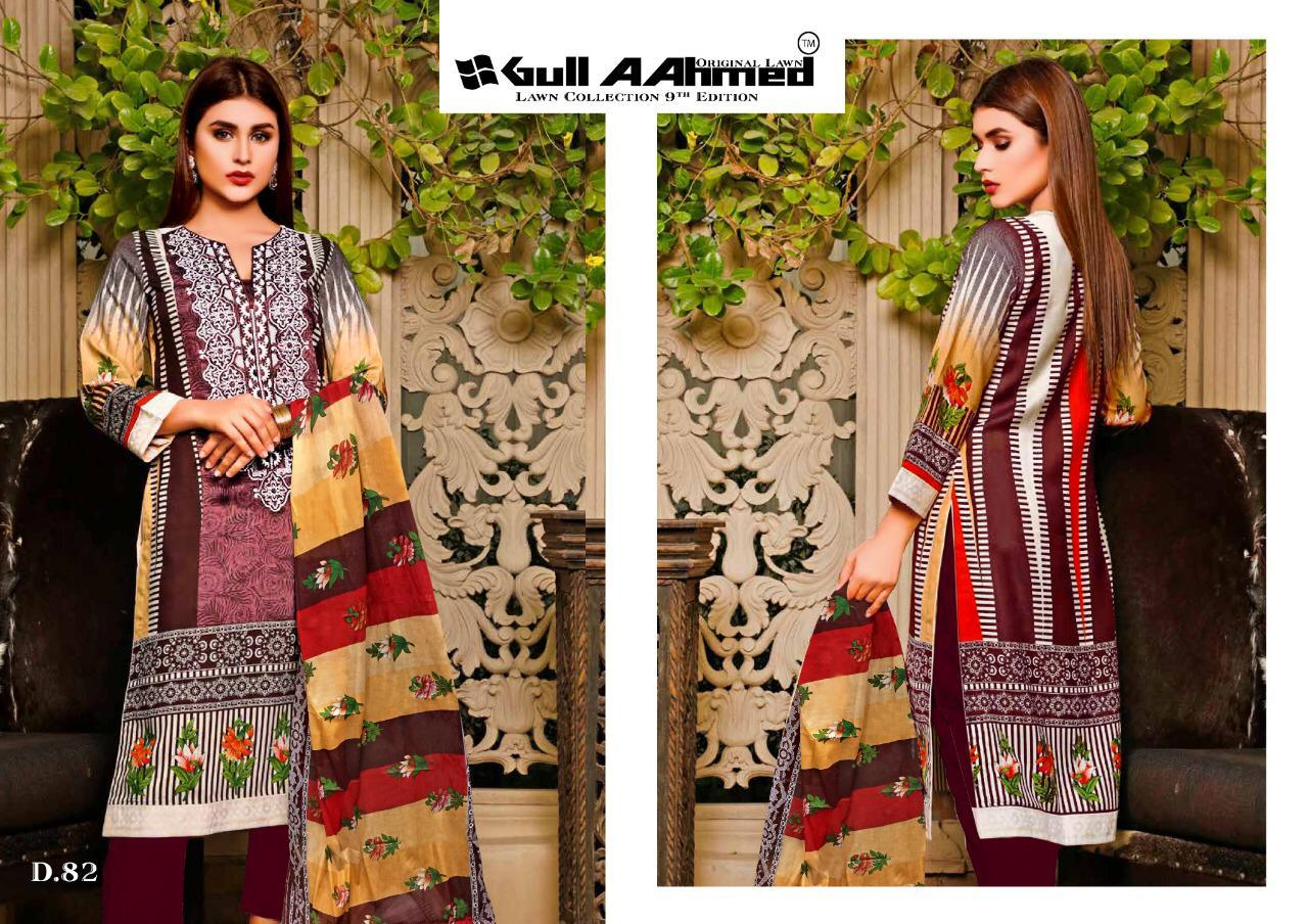 Gull AAhmed Vol 9 Lawn Colletion Salwar Suit Wholesale Catalog 10 Pcs 10 - Gull AAhmed Vol 9 Lawn Colletion Salwar Suit Wholesale Catalog 10 Pcs