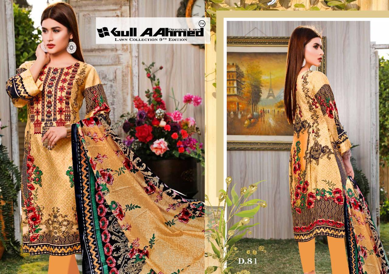 Gull AAhmed Vol 9 Lawn Colletion Salwar Suit Wholesale Catalog 10 Pcs 11 - Gull AAhmed Vol 9 Lawn Colletion Salwar Suit Wholesale Catalog 10 Pcs