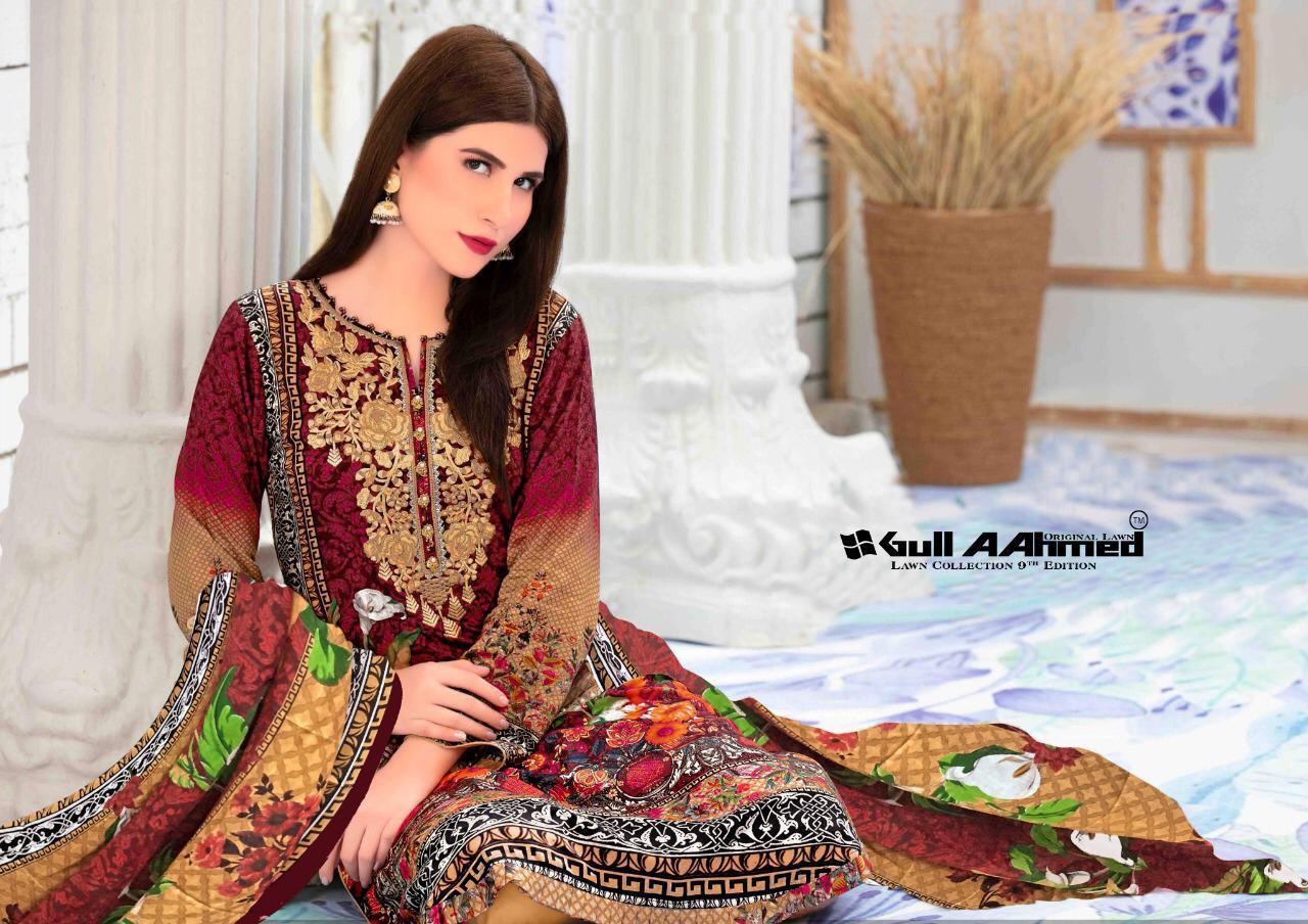 Gull AAhmed Vol 9 Lawn Colletion Salwar Suit Wholesale Catalog 10 Pcs 12 - Gull AAhmed Vol 9 Lawn Colletion Salwar Suit Wholesale Catalog 10 Pcs