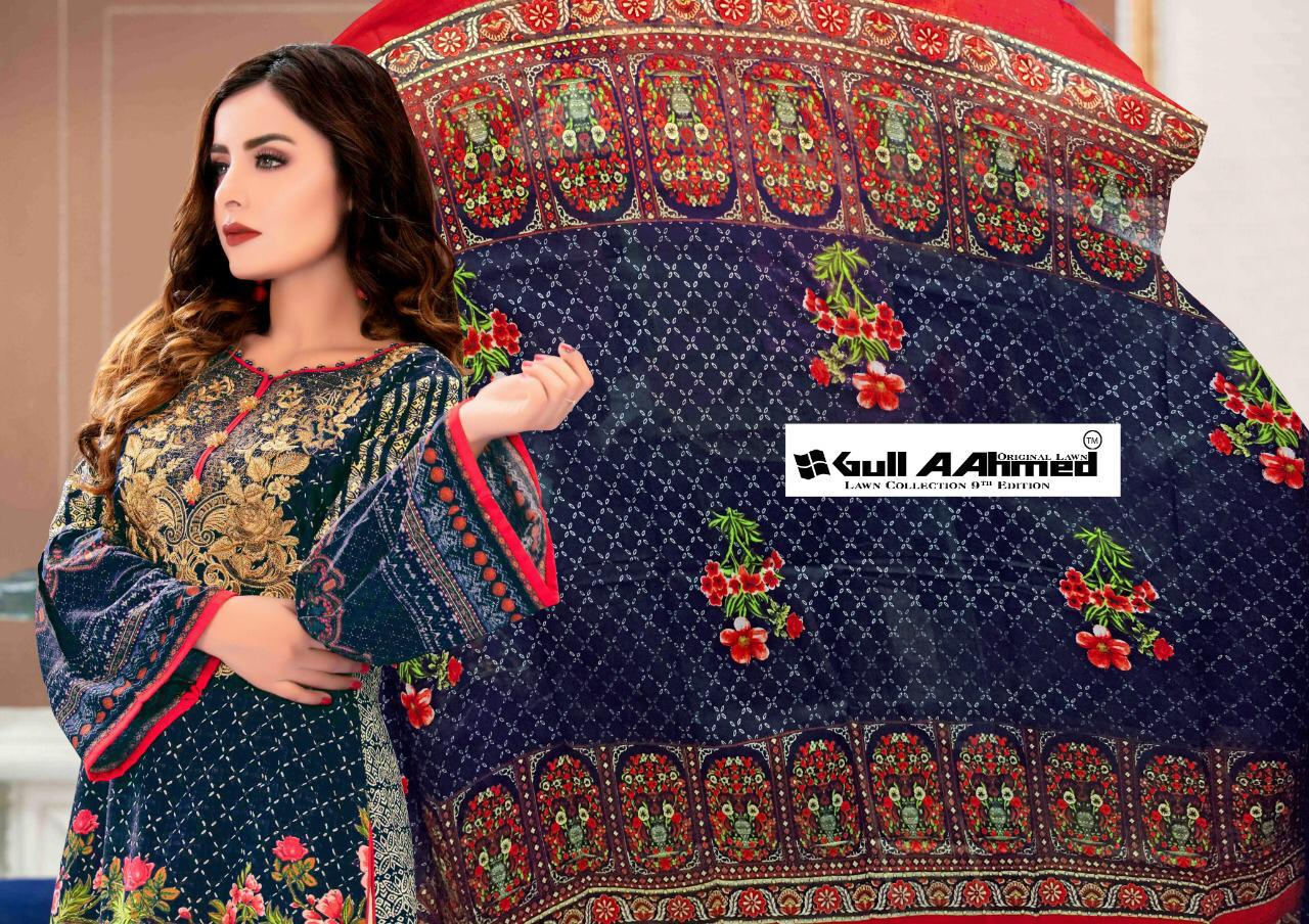 Gull AAhmed Vol 9 Lawn Colletion Salwar Suit Wholesale Catalog 10 Pcs 13 - Gull AAhmed Vol 9 Lawn Colletion Salwar Suit Wholesale Catalog 10 Pcs