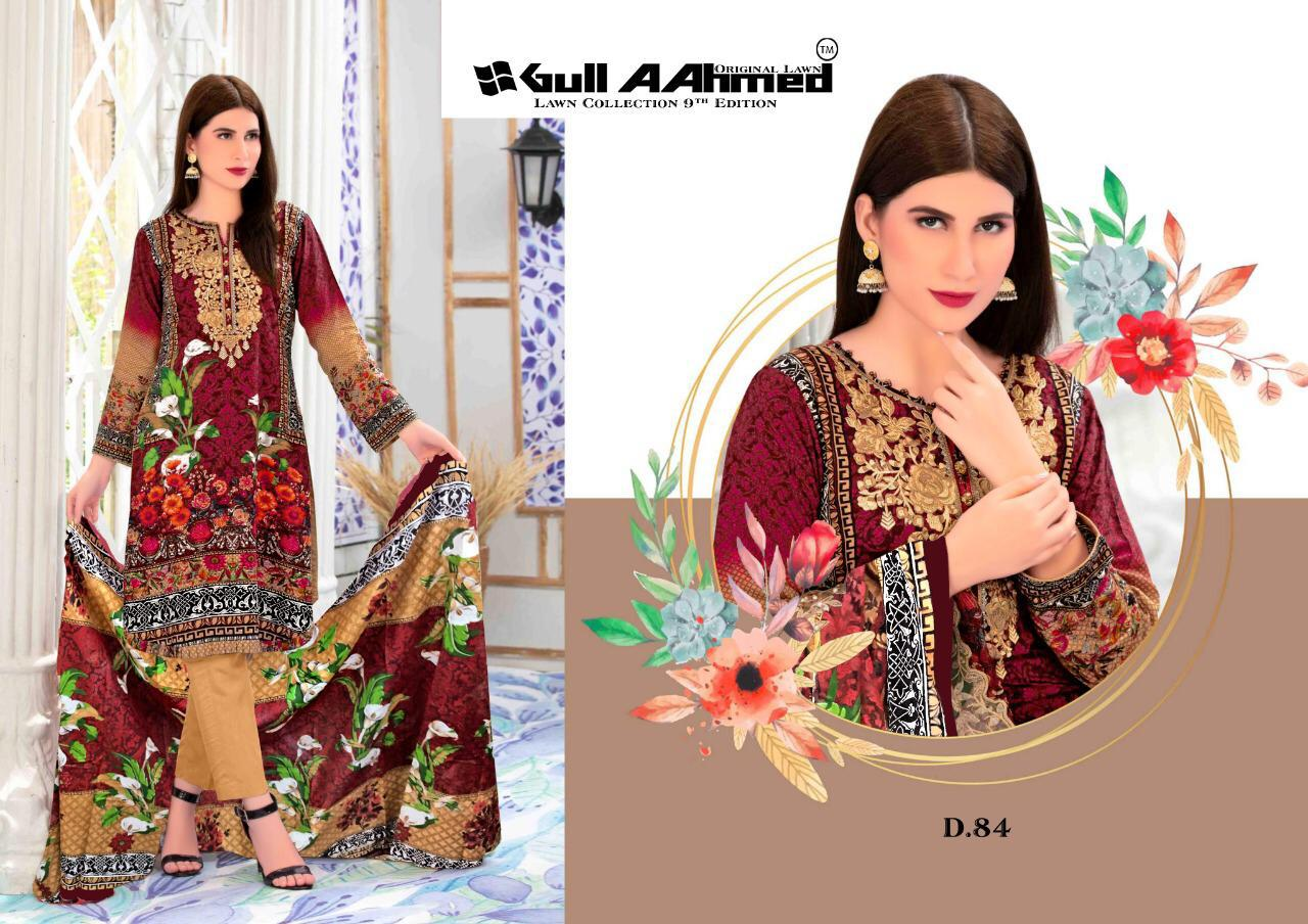Gull AAhmed Vol 9 Lawn Colletion Salwar Suit Wholesale Catalog 10 Pcs 3 - Gull AAhmed Vol 9 Lawn Colletion Salwar Suit Wholesale Catalog 10 Pcs