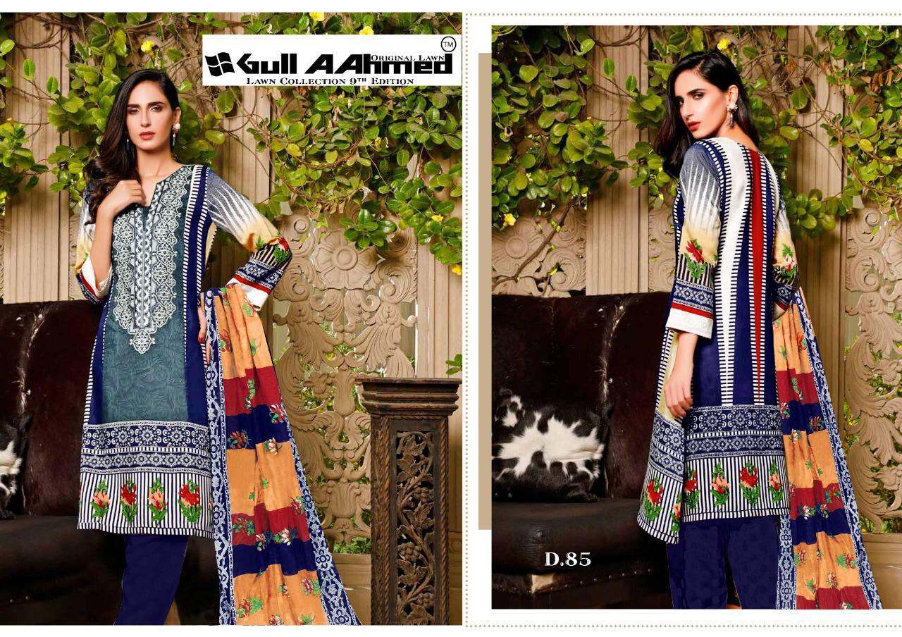 Gull AAhmed Vol 9 Lawn Colletion Salwar Suit Wholesale Catalog 10 Pcs 4 - Gull AAhmed Vol 9 Lawn Colletion Salwar Suit Wholesale Catalog 10 Pcs
