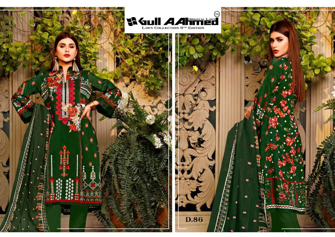 Gull AAhmed Vol 9 Lawn Colletion Salwar Suit Wholesale Catalog 10 Pcs 5 - Gull AAhmed Vol 9 Lawn Colletion Salwar Suit Wholesale Catalog 10 Pcs