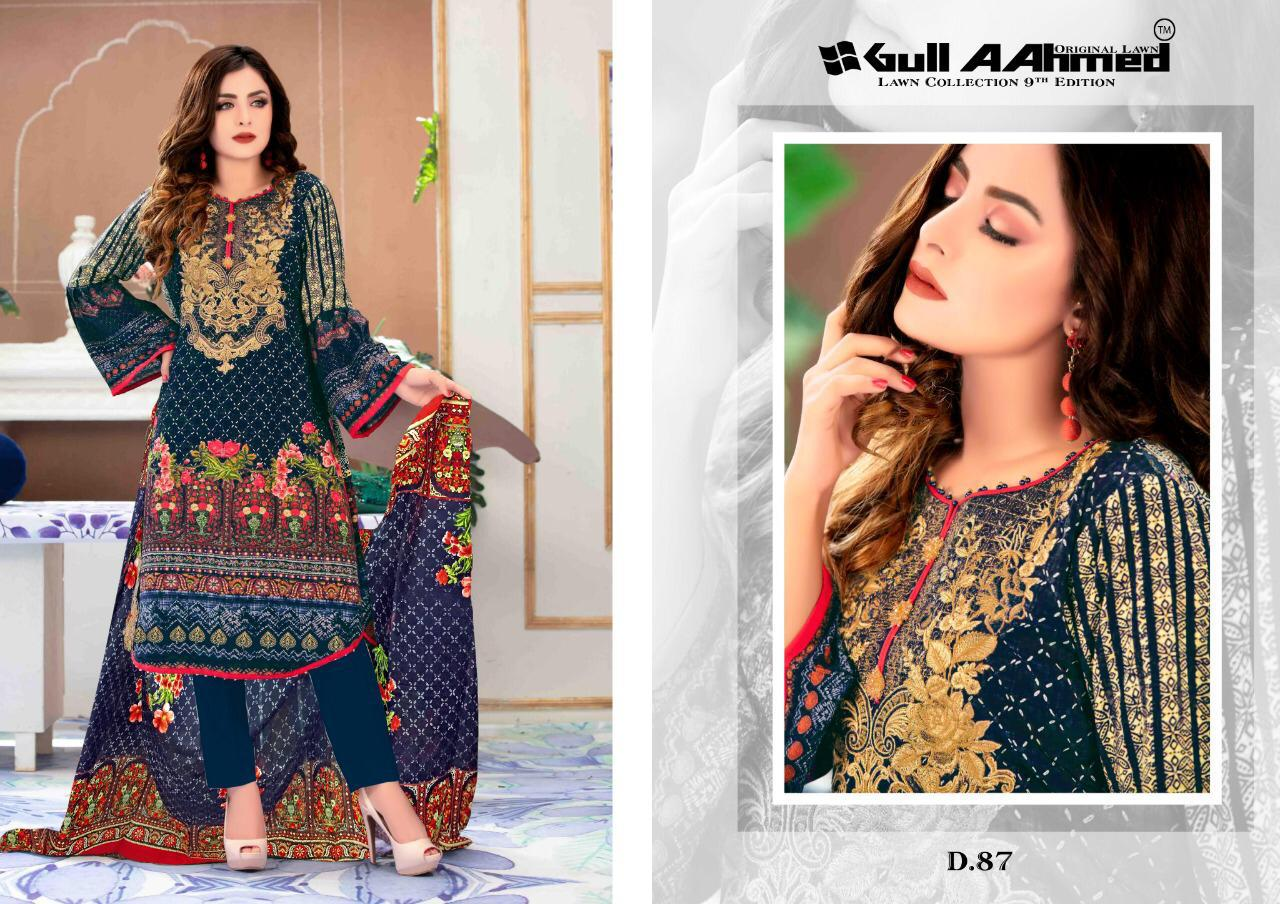 Gull AAhmed Vol 9 Lawn Colletion Salwar Suit Wholesale Catalog 10 Pcs 6 - Gull AAhmed Vol 9 Lawn Colletion Salwar Suit Wholesale Catalog 10 Pcs