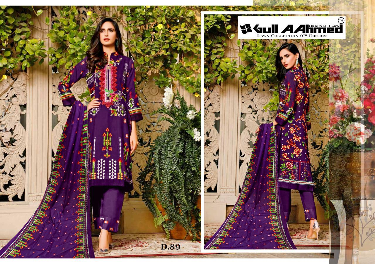 Gull AAhmed Vol 9 Lawn Colletion Salwar Suit Wholesale Catalog 10 Pcs 8 - Gull AAhmed Vol 9 Lawn Colletion Salwar Suit Wholesale Catalog 10 Pcs