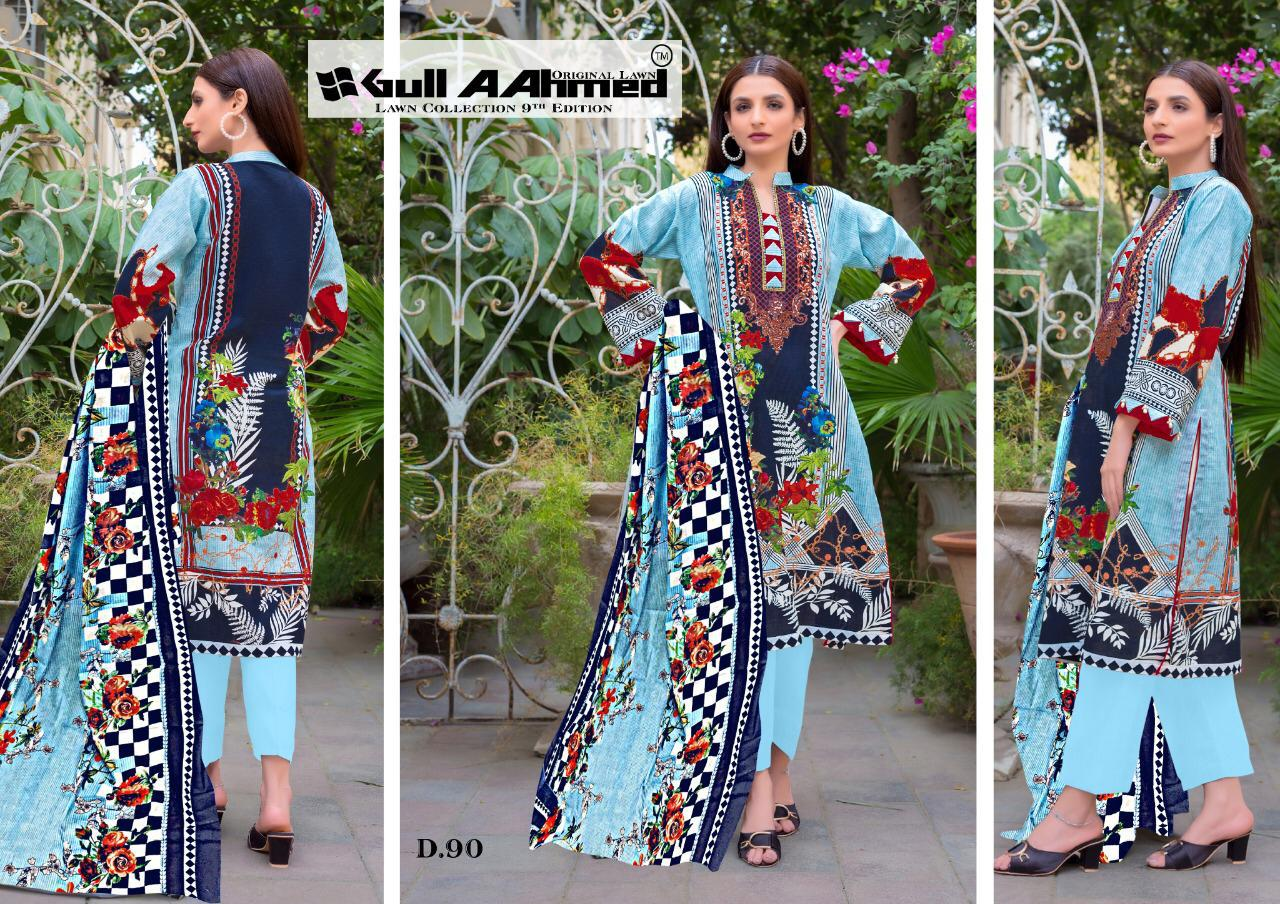 Gull AAhmed Vol 9 Lawn Colletion Salwar Suit Wholesale Catalog 10 Pcs 9 - Gull AAhmed Vol 9 Lawn Colletion Salwar Suit Wholesale Catalog 10 Pcs