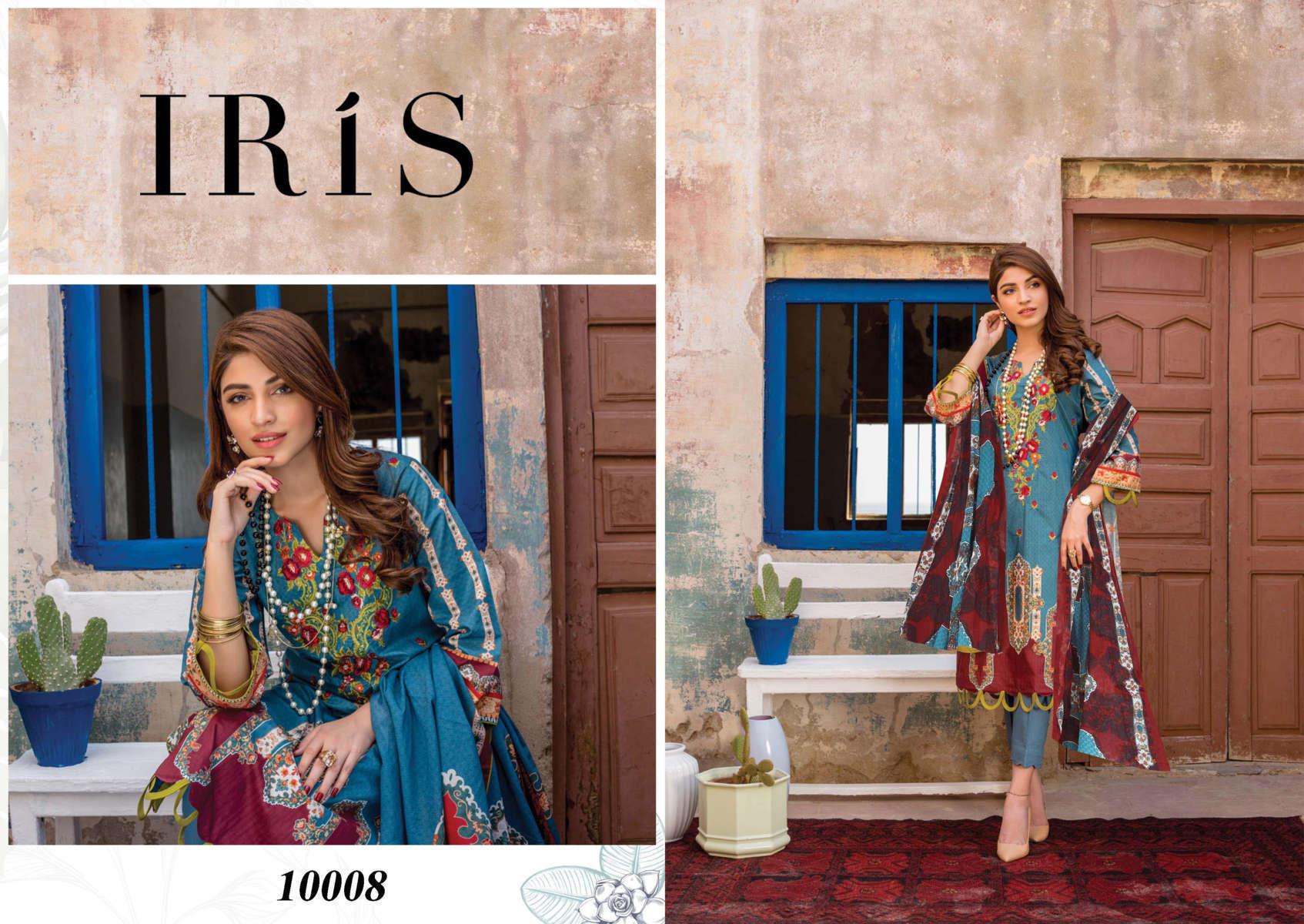 Iris Vol 10 Karachi Cotton Salwar Suit Wholesale Catalog 10 Pcs 11 - Iris Vol 10 Karachi Cotton Salwar Suit Wholesale Catalog 10 Pcs