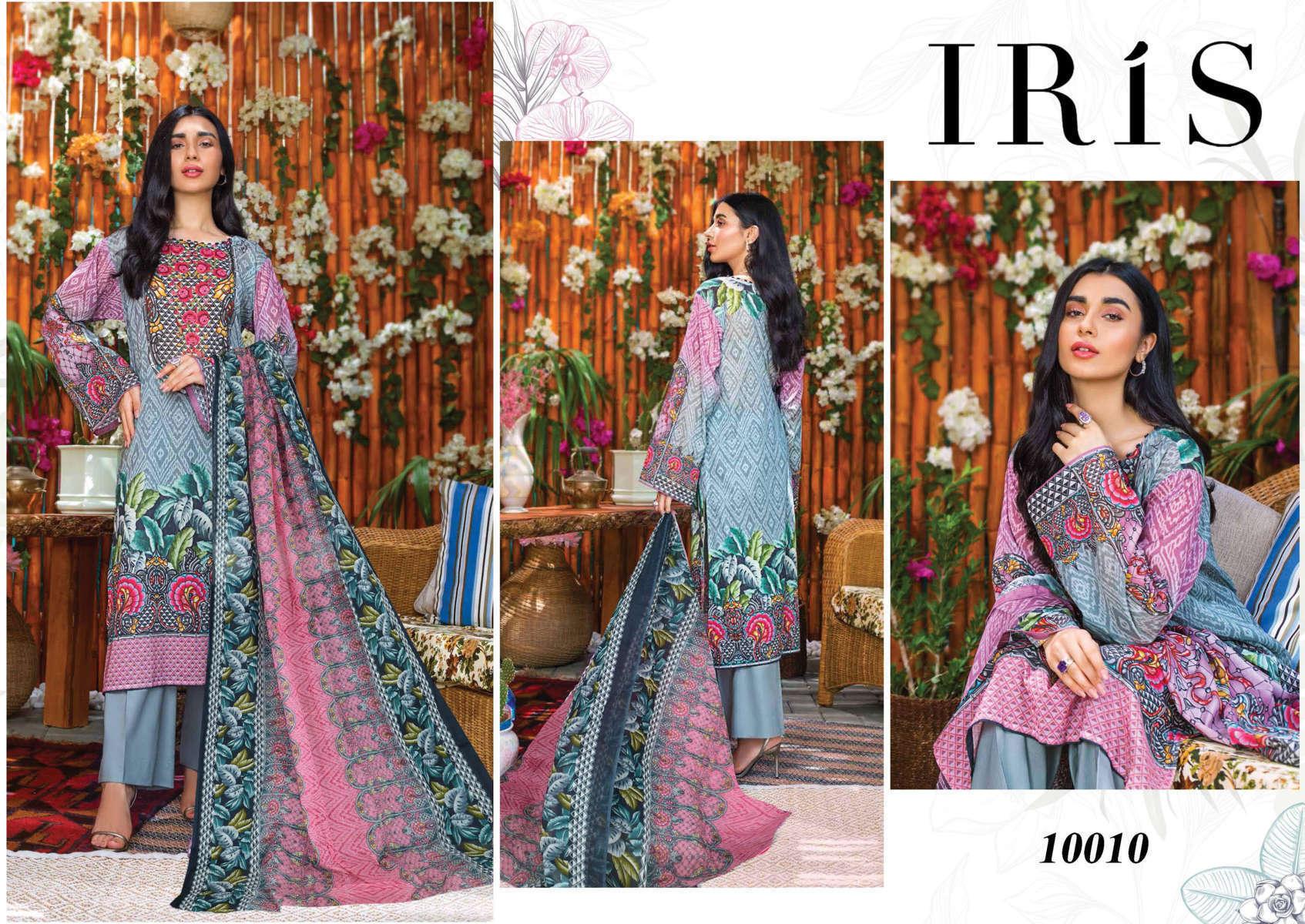 Iris Vol 10 Karachi Cotton Salwar Suit Wholesale Catalog 10 Pcs 14 - Iris Vol 10 Karachi Cotton Salwar Suit Wholesale Catalog 10 Pcs
