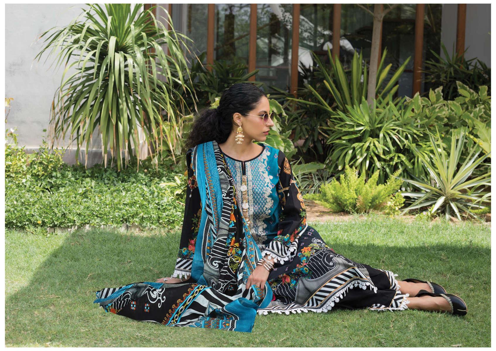 Iris Vol 10 Karachi Cotton Salwar Suit Wholesale Catalog 10 Pcs 6 - Iris Vol 10 Karachi Cotton Salwar Suit Wholesale Catalog 10 Pcs