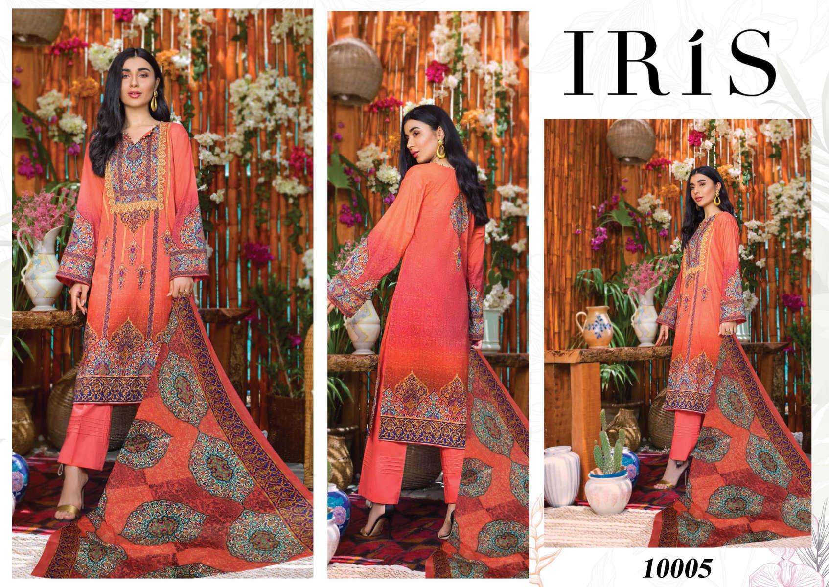 Iris Vol 10 Karachi Cotton Salwar Suit Wholesale Catalog 10 Pcs 8 - Iris Vol 10 Karachi Cotton Salwar Suit Wholesale Catalog 10 Pcs