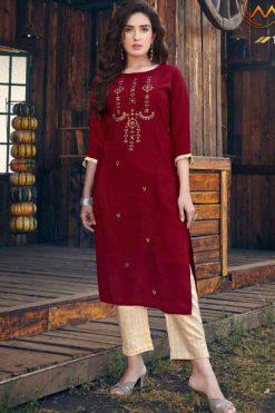 Manya Glory Kurti with Pant Wholesale Catalog 6 Pcs