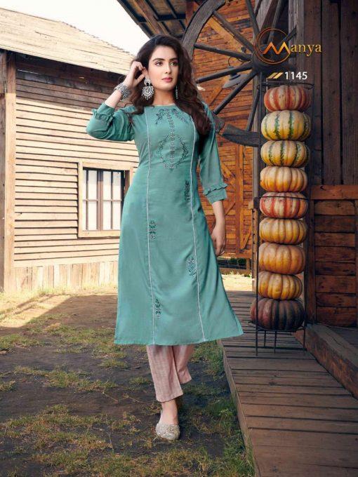 Manya Glory Kurti with Pant Wholesale Catalog 6 Pcs 4 510x680 - Manya Glory Kurti with Pant Wholesale Catalog 6 Pcs
