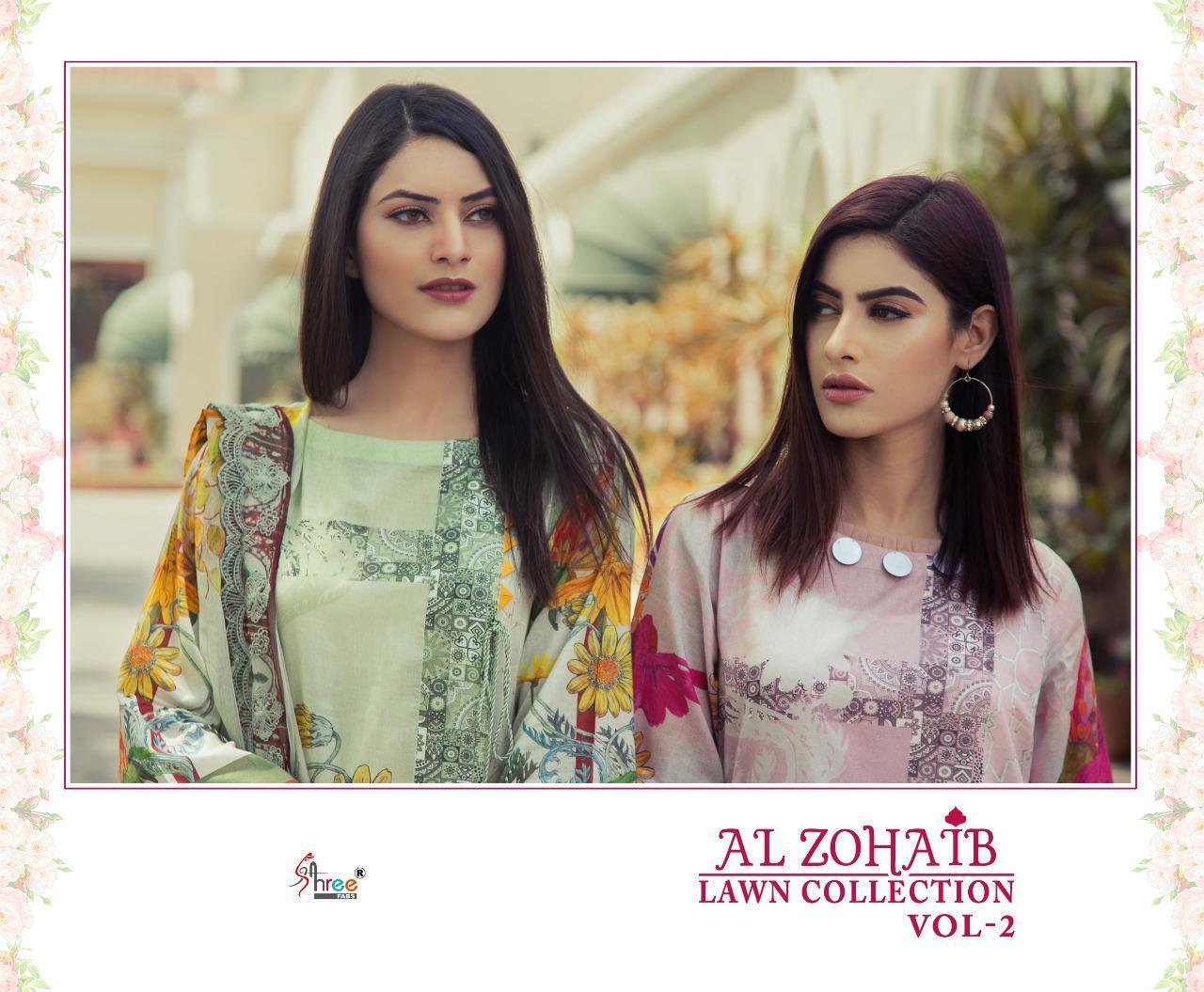 Shree Fabs Al Zohaib Lawn Collection Vol 2 Salwar Suit Wholesale Catalog 8 Pcs 10 - Shree Fabs Al Zohaib Lawn Collection Vol 2 Salwar Suit Wholesale Catalog 8 Pcs