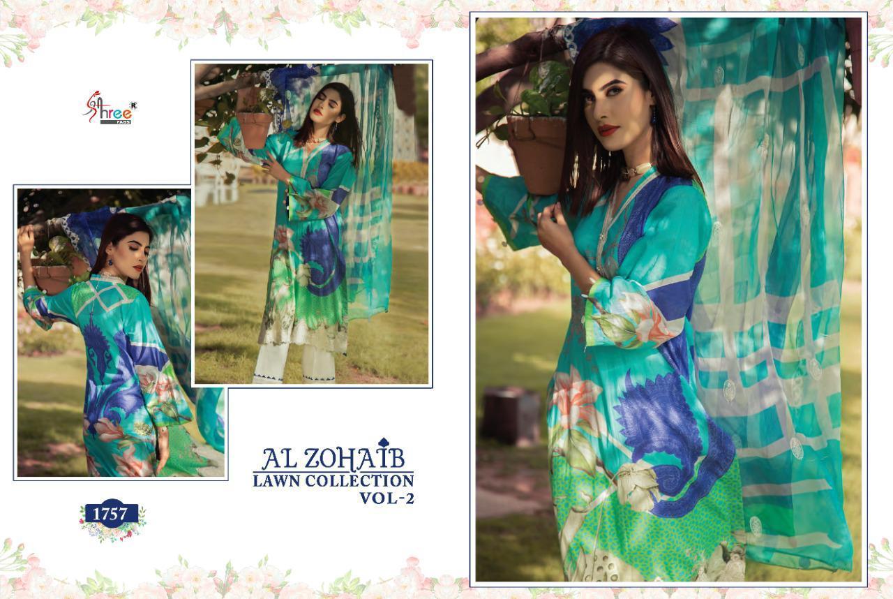 Shree Fabs Al Zohaib Lawn Collection Vol 2 Salwar Suit Wholesale Catalog 8 Pcs 7 - Shree Fabs Al Zohaib Lawn Collection Vol 2 Salwar Suit Wholesale Catalog 8 Pcs