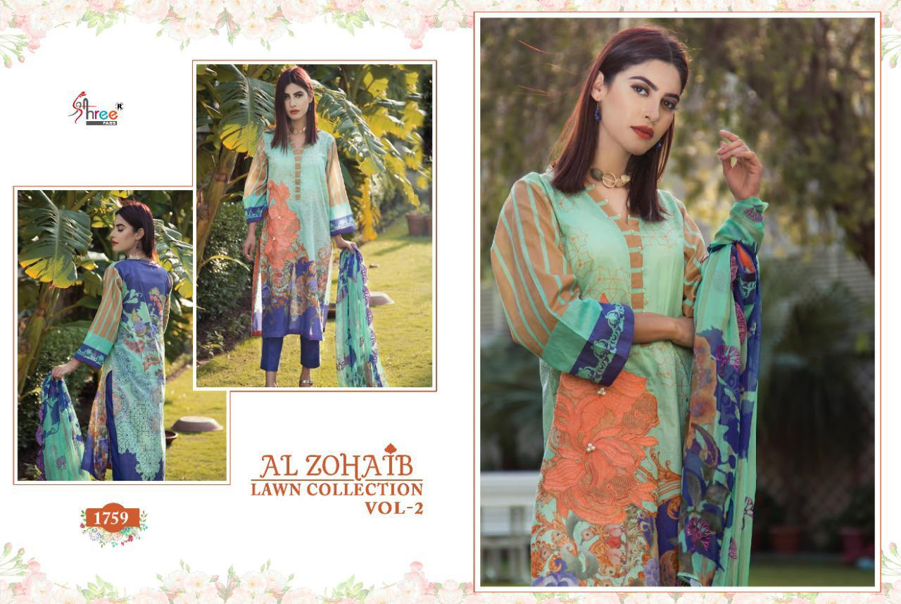 Shree Fabs Al Zohaib Lawn Collection Vol 2 Salwar Suit Wholesale Catalog 8 Pcs 8 - Shree Fabs Al Zohaib Lawn Collection Vol 2 Salwar Suit Wholesale Catalog 8 Pcs