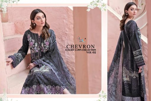 Shree Fabs Chevron Luxury Lawn Collection Vol 2 Salwar Suit Wholesale Catalog 7 Pcs 14 510x342 - Shree Fabs Chevron Luxury Lawn Collection Vol 2 Salwar Suit Wholesale Catalog 7 Pcs