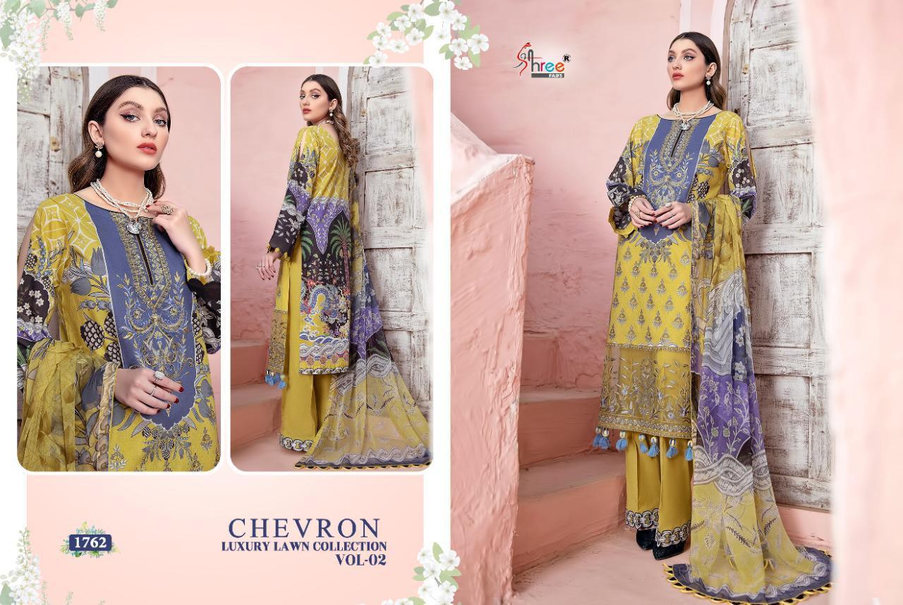 Shree Fabs Chevron Luxury Lawn Collection Vol 2 Salwar Suit Wholesale Catalog 7 Pcs 2 - Shree Fabs Chevron Luxury Lawn Collection Vol 2 Salwar Suit Wholesale Catalog 7 Pcs