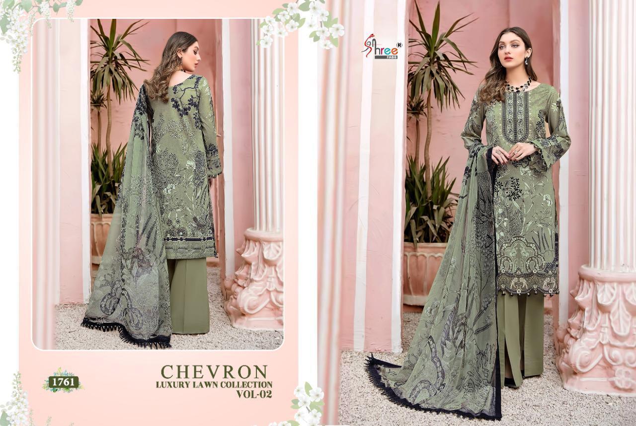 Shree Fabs Chevron Luxury Lawn Collection Vol 2 Salwar Suit Wholesale Catalog 7 Pcs 4 - Shree Fabs Chevron Luxury Lawn Collection Vol 2 Salwar Suit Wholesale Catalog 7 Pcs