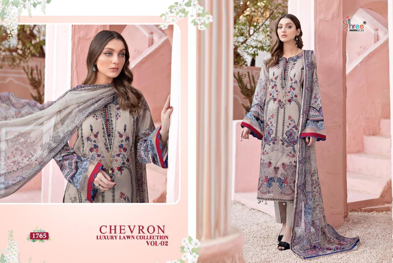Shree Fabs Chevron Luxury Lawn Collection Vol 2 Salwar Suit Wholesale Catalog 7 Pcs 5 - Shree Fabs Chevron Luxury Lawn Collection Vol 2 Salwar Suit Wholesale Catalog 7 Pcs