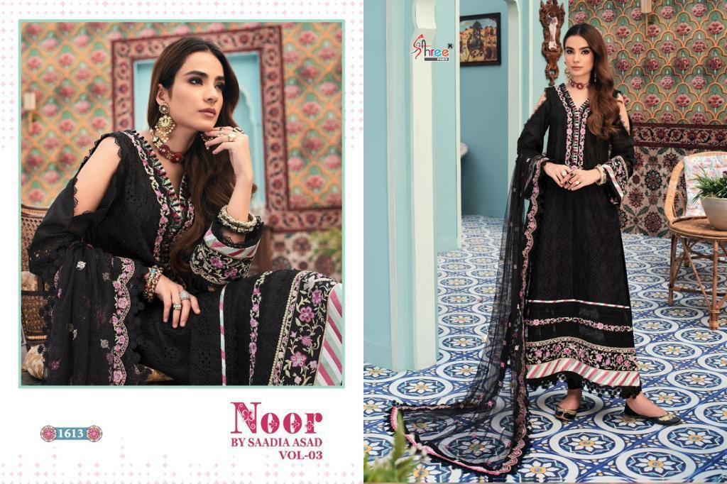 Shree Fabs Noor By Saadia Asad Vol 3 Salwar Suit Wholesale Catalog 5 Pcs 4 - Shree Fabs Noor By Saadia Asad Vol 3 Salwar Suit Wholesale Catalog 5 Pcs