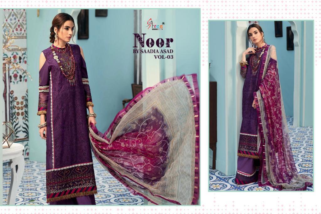 Shree Fabs Noor By Saadia Asad Vol 3 Salwar Suit Wholesale Catalog 5 Pcs 9 - Shree Fabs Noor By Saadia Asad Vol 3 Salwar Suit Wholesale Catalog 5 Pcs
