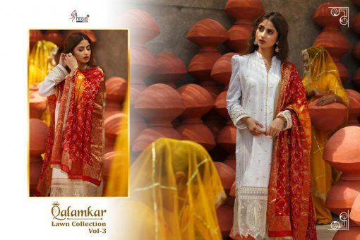Shree Fabs Qalamkar Lawn Collection Vol 3 Salwar Suit Wholesale Catalog 6 Pcs 14 510x340 - Shree Fabs Qalamkar  Lawn Collection Vol 3 Salwar Suit Wholesale Catalog 6 Pcs