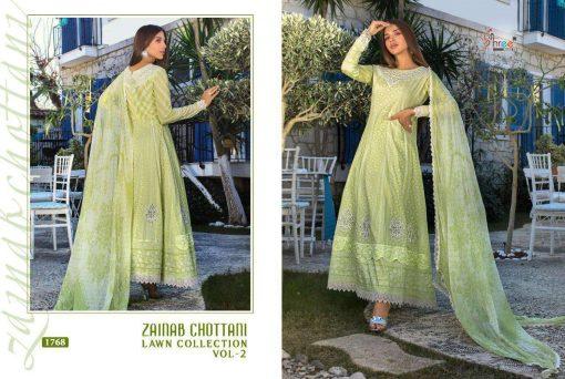 Shree Fabs Zainab Chottani Lawn Collection Vol 2 Salwar Suit Wholesale Catalog 8 Pcs