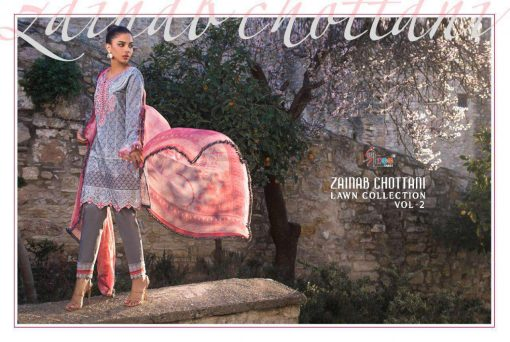 Shree Fabs Zainab Chottani Lawn Collection Vol 2 Salwar Suit Wholesale Catalog 8 Pcs 29 510x342 - Shree Fabs Zainab Chottani Lawn Collection Vol 2 Salwar Suit Wholesale Catalog 8 Pcs