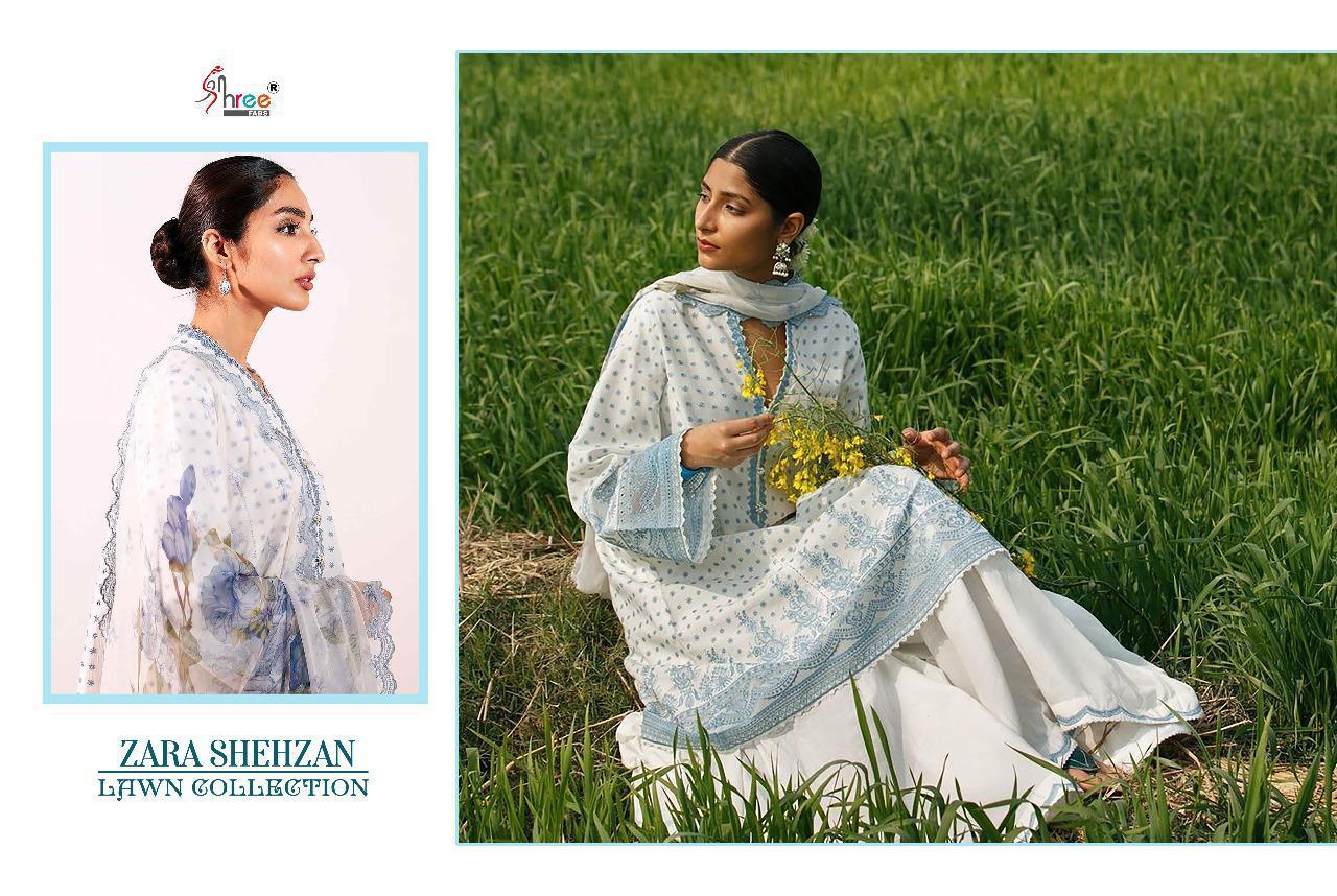 Shree Fabs Zara Shahjahan Lawn Collection Salwar Suit Wholesale Catalog 5 Pcs 2 - Shree Fabs Zara Shahjahan Lawn Collection Salwar Suit Wholesale Catalog 5 Pcs