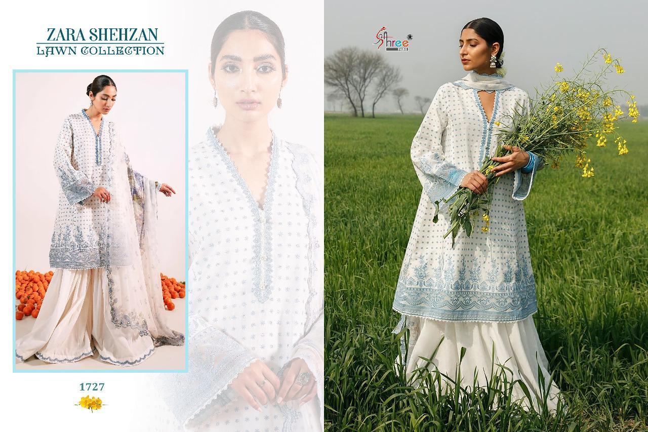 Shree Fabs Zara Shahjahan Lawn Collection Salwar Suit Wholesale Catalog 5 Pcs 3 - Shree Fabs Zara Shahjahan Lawn Collection Salwar Suit Wholesale Catalog 5 Pcs