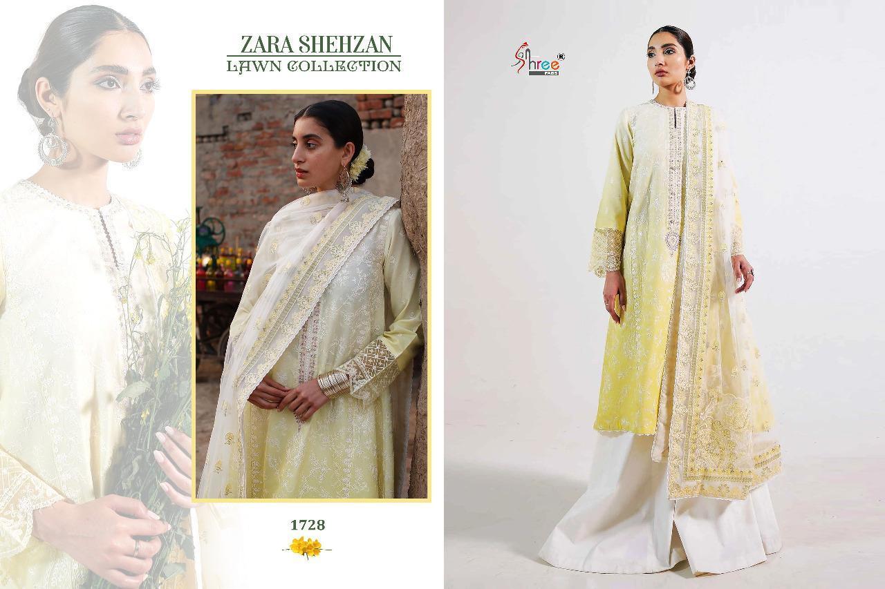 Shree Fabs Zara Shahjahan Lawn Collection Salwar Suit Wholesale Catalog 5 Pcs 4 - Shree Fabs Zara Shahjahan Lawn Collection Salwar Suit Wholesale Catalog 5 Pcs
