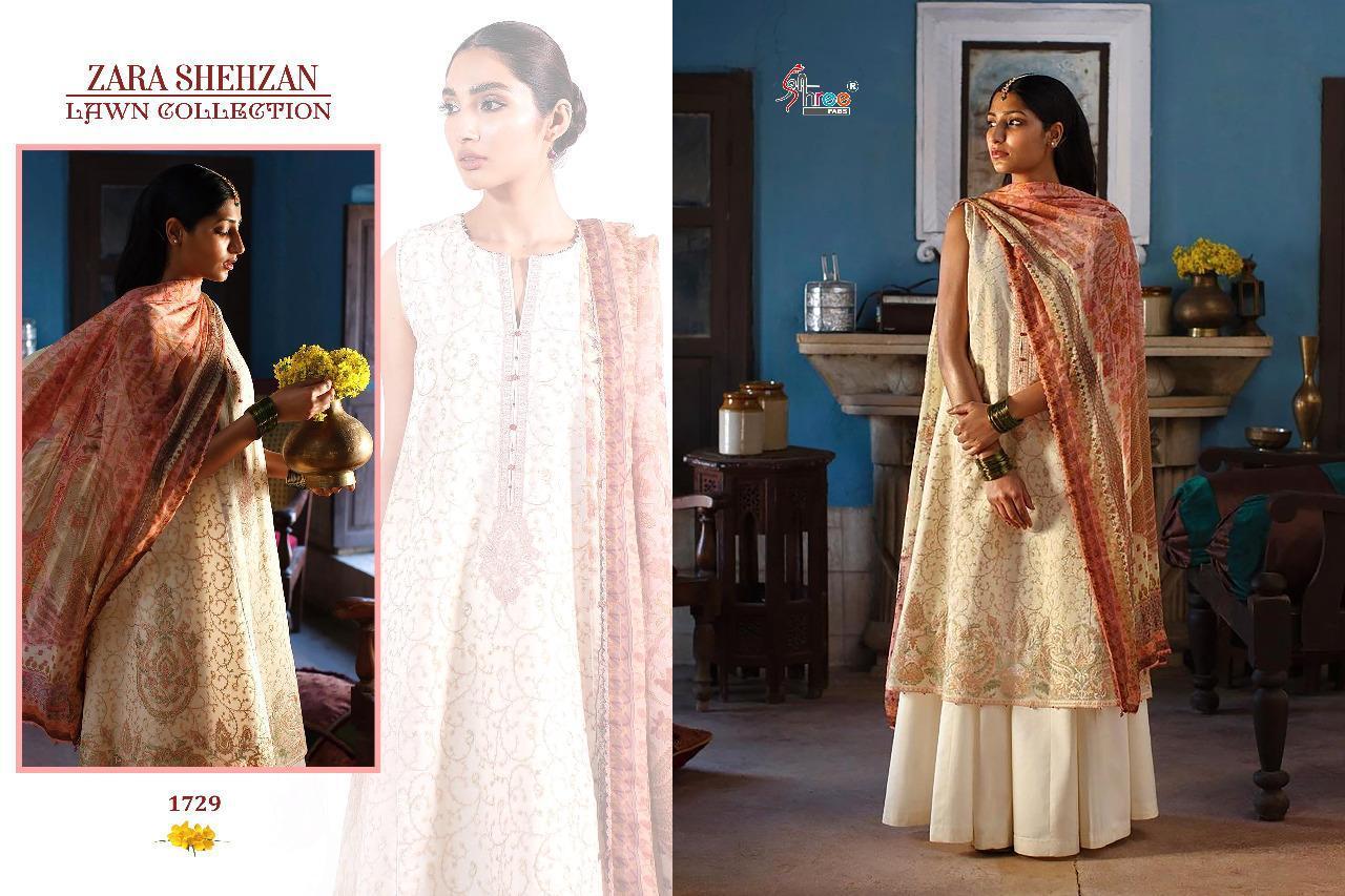 Shree Fabs Zara Shahjahan Lawn Collection Salwar Suit Wholesale Catalog 5 Pcs 6 - Shree Fabs Zara Shahjahan Lawn Collection Salwar Suit Wholesale Catalog 5 Pcs