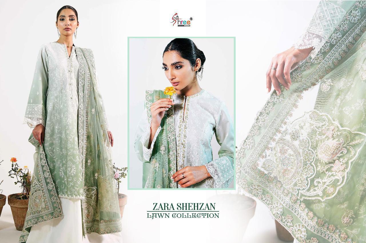 Shree Fabs Zara Shahjahan Lawn Collection Salwar Suit Wholesale Catalog 5 Pcs 7 - Shree Fabs Zara Shahjahan Lawn Collection Salwar Suit Wholesale Catalog 5 Pcs