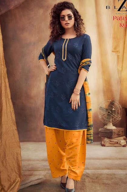 Z Black Patiyala Kudi Readymade Salwar Suit Wholesale Catalog 6 Pcs