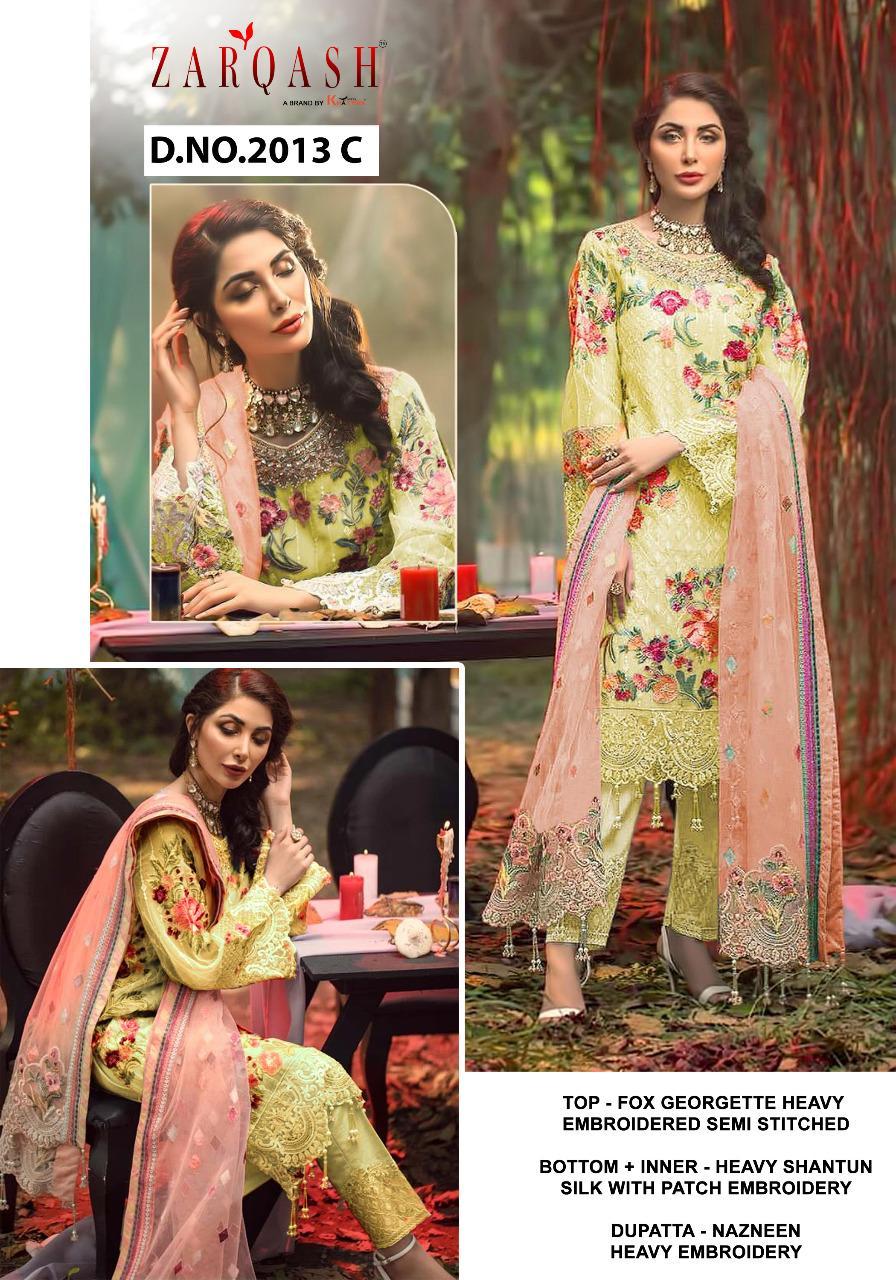 Zarqash Adans Hits by Khayyira Salwar Suit Wholesale Catalog 3 Pcs 3 - Zarqash Adans Hits by Khayyira Salwar Suit Wholesale Catalog 3 Pcs