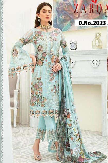 Zarqash Dynamic by Khayyira Salwar Suit Wholesale Catalog 4 Pcs