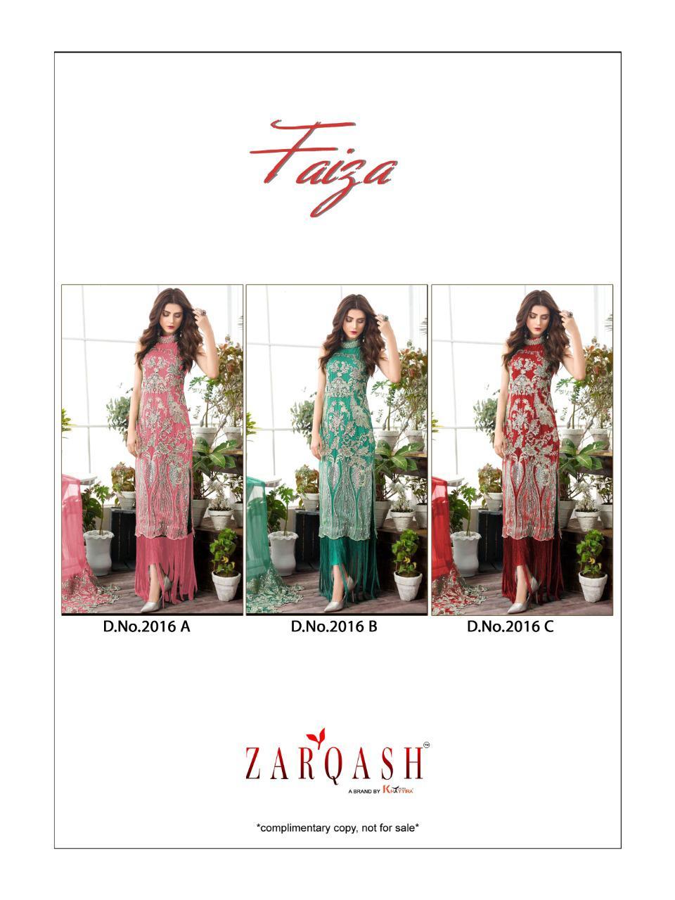 Zarqash Faiza by Khayyira Salwar Suit Wholesale Catalog 3 Pcs 5 - Zarqash Faiza by Khayyira Salwar Suit Wholesale Catalog 3 Pcs
