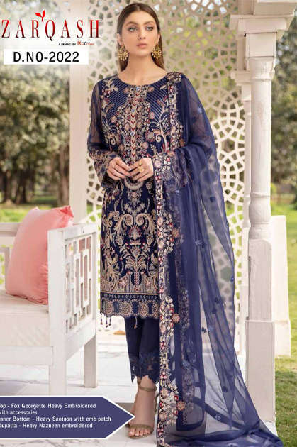 Zarqash Ramsha by Khayyira Salwar Suit Wholesale Catalog 6 Pcs