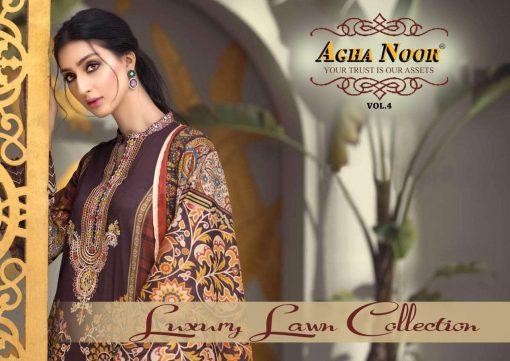 Agha Noor Vol 4 Luxury Lawn Collection Salwar Suit Wholesale Catalog 10 Pcs 3 1 510x361 - Agha Noor Vol 4 Luxury Lawn Collection Salwar Suit Wholesale Catalog 10 Pcs