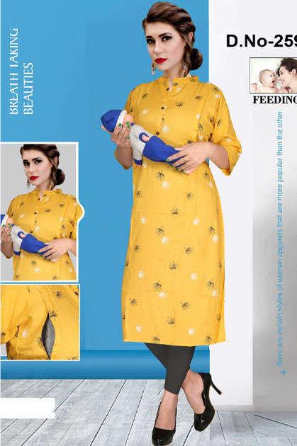 Avashya Inkline Feeding Kurtis Vol 9 Wholesale Catalog 6 Pcs